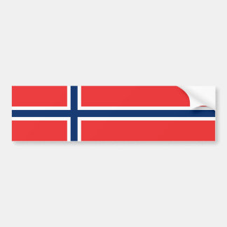 Norway/Norwegian Flag Bumper Sticker