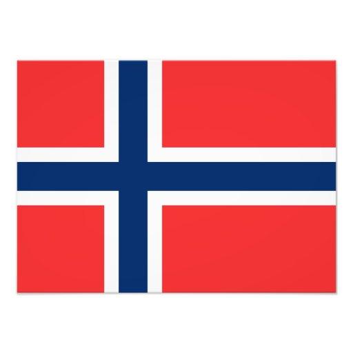 Norway - Norwegian Flag Photo Print