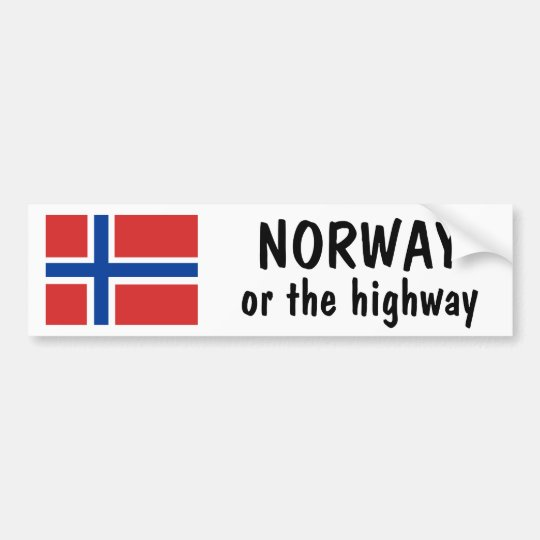 Norway or the Highway Bumper Sticker