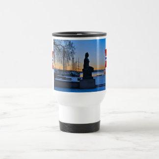 Norway, Oslo harbour at sunset Travel Mug