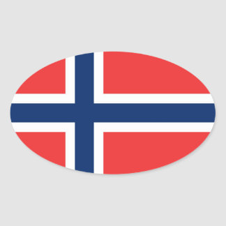 NORWAY OVAL STICKER