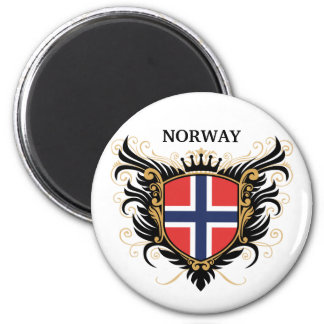 Norway [personalize] 6 cm round magnet