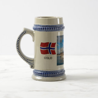 Norway,Port of Oslo; yacht marina, harbour Beer Stein