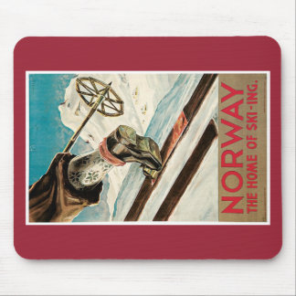 Norway poster mouse pad