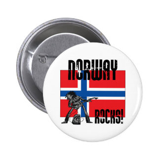 Norway Rocks 6 Cm Round Badge