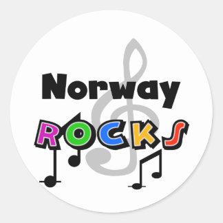 Norway Rocks Classic Round Sticker
