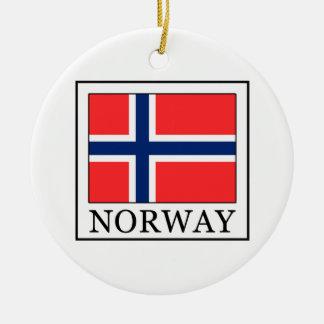 Norway Round Ceramic Decoration