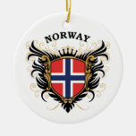 Norway Round Ceramic Decoration
