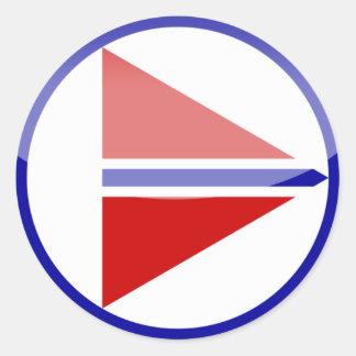 norway round sticker
