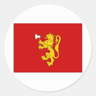 Norway Royal Standard Round Sticker