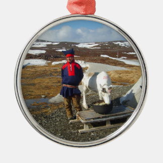 Norway, Sami settlement in Lapland Christmas Ornament