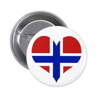Norway Scandinavia 6 Cm Round Badge