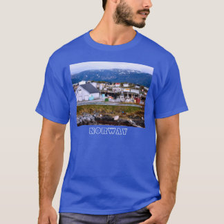 Norway, Sea, fishing harbour and mountains T-Shirt