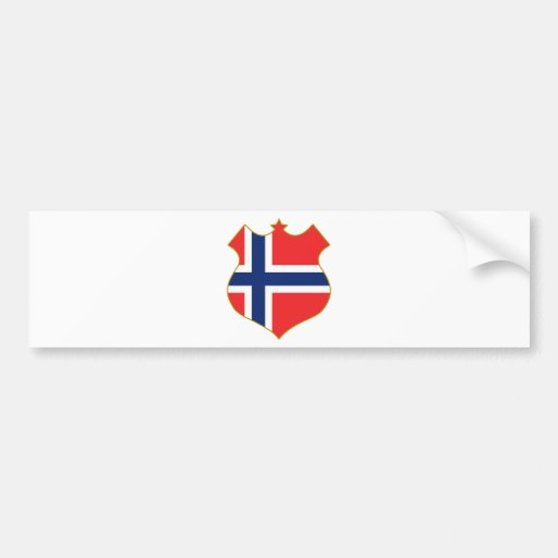 Norway-shield.png Bumper Sticker