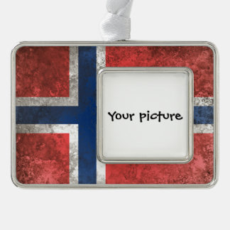 Norway Silver Plated Framed Ornament