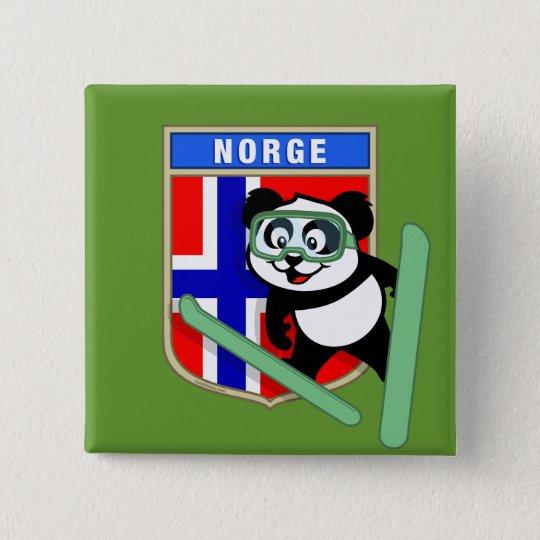 Norway Ski-jumping Panda 15 Cm Square Badge