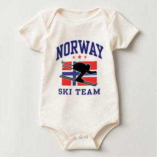Norway Ski Team Baby Bodysuit