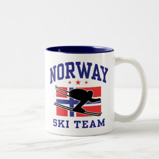 Norway Ski Team Two-Tone Coffee Mug