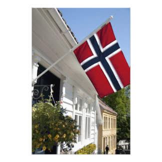 Norway, Stavanger. Historic downtown views. Photo Print