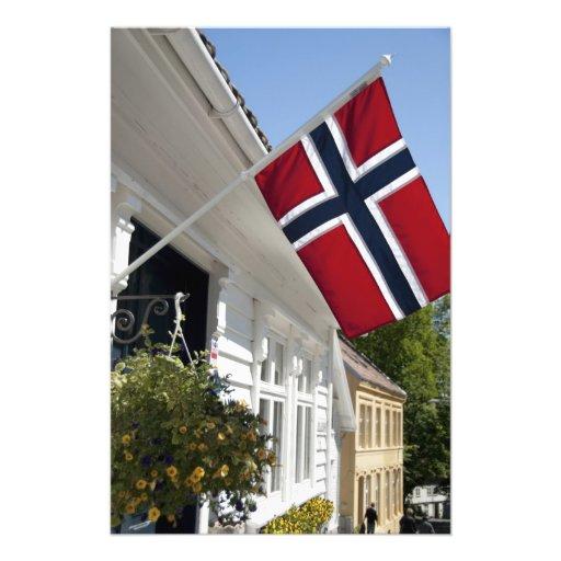 Norway, Stavanger. Historic downtown views. Photo Art