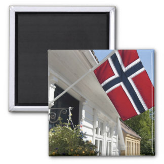 Norway, Stavanger. Historic downtown views. Square Magnet