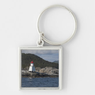 Norway, Stavanger. Views along Lysefjord. Silver-Colored Square Key Ring