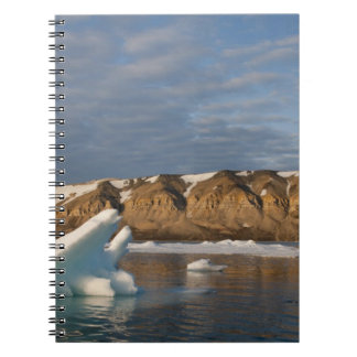 Norway, Svalbard, Spitsbergen Island, Setting Spiral Notebook