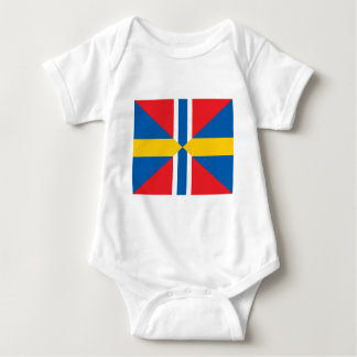 Norway Sweden Union Flag Baby Bodysuit