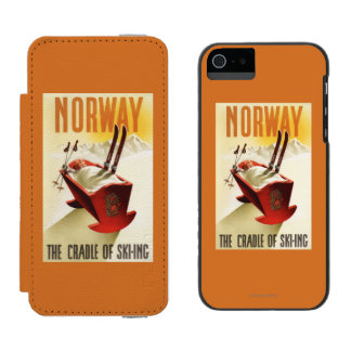 Norway - The Cradle of Skiing Incipio Watson™ iPhone 5 Wallet Case