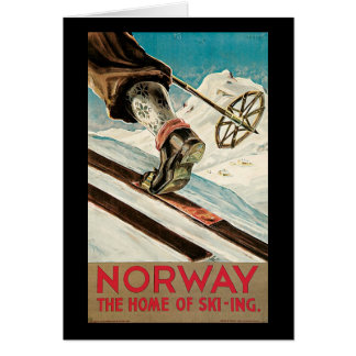 Norway The Home Of Skiing Card