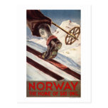 Norway - The Home of Skiing Postcard