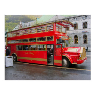 Norway, Tourist bus in Bergen Postcard