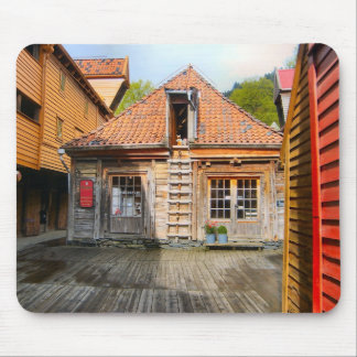 Norway, Traditional rural wooden building Mouse Mat