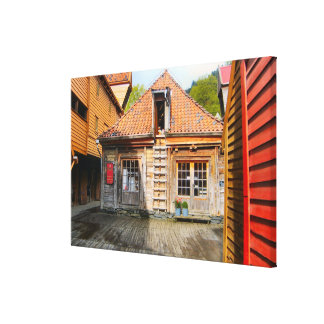 Norway, Traditional village buildings Canvas Print