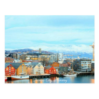 Norway, Tromso City at Dusk - Postcard