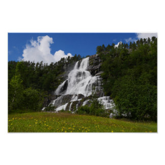 Norway - Tvindefossen waterfall Poster