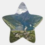 Norway view to Geiranger from Flydalsjuvet Star Sticker