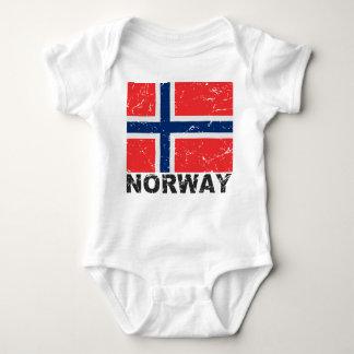 Norway Vintage Flag Baby Bodysuit