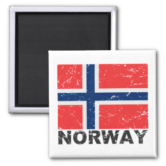 Norway Vintage Flag Magnet