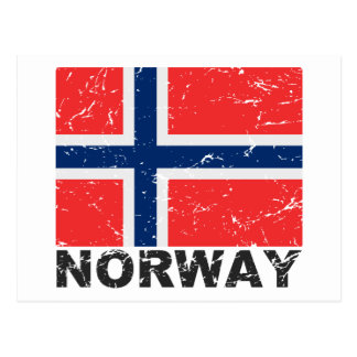 Norway Vintage Flag Postcard