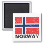 Norway Vintage Flag Refrigerator Magnets