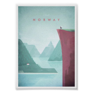 Norway Vintage Travel Poster