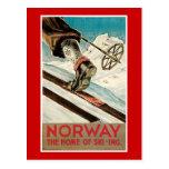 Norway Vintage Travel Poster Postcard