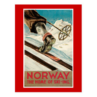 Norway Vintage Travel Poster Postcard