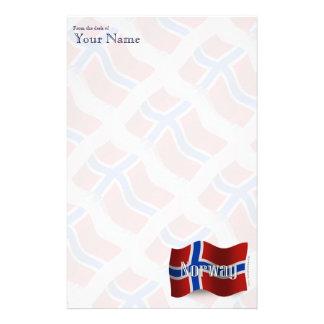Norway Waving Flag Customised Stationery