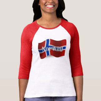 Norway Waving Flag Tee Shirt
