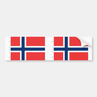 Norway With Proportions, Norway flag Bumper Sticker