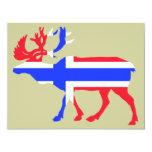 Norwege Elk 11 Cm X 14 Cm Invitation Card