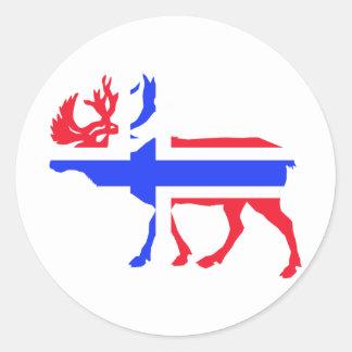 Norwege Elk Round Sticker