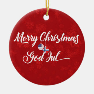 Norwegian American Bilingual Holiday Decoration